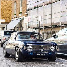 Great colour on this #AlfaRomeo #Giulia #GTA on the streets of London. Via @car_vintage
