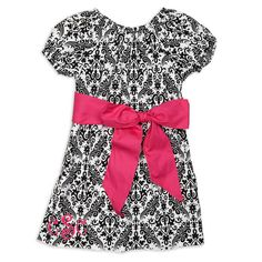 Girls Damask Black Dress – Lolly Wolly Doodle