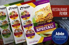 Restaurant Flyer Vol.04 by KitCreativeStudio2 on Creative Market