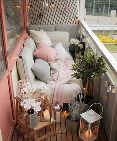 Small Balcony Ideas-Pastels