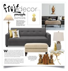 """""""Fruit Decor 1288"""" by boxthoughts ❤ liked on Polyvore featuring interior, interiors, interior design, home, home decor, interior decorating, iCanvas, One World, Dorel and Home Decorators Collection"""