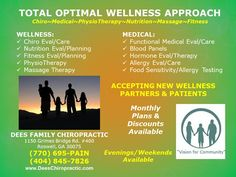 CHIROPRACTIC, MEDICAL, PHYSICAL THERAPY, MASSAGE Practice:   ROSWELL'S ACCIDENT INJURY WELLNESS DOCTOR    (770) 695-PAIN... Accepting New Wellnes Partners & Patients--- #Atlanta #chiropractic #wellness #health #athletes #bodybuilding #crossfit #mma #baseball #soccer #basketball #rugby #swimmers #lacrosse #football #judo #bjj #taekwondo #boxing  #wrestling    FREE WELLNESS & SPINAL EVALUATION~~WEEKEND& EVENING APPOINTMENTS AVAILABLE ---ATHLETE DISCOUNTS AVAILABLE  DEES FAMILY CHIROPRACTIC…