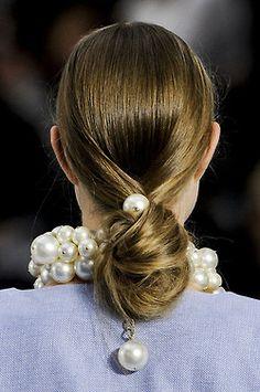 Chanel Spring 2013 hair #pfw ~