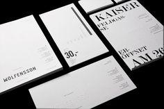 Von K Exquisito trabajo de Julia Klinger, como hacer de la tipografía un juego visual elegante y llamativo