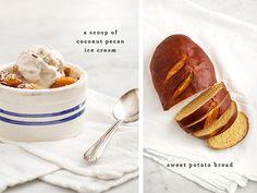 Pumpkin bread pudding.