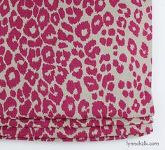Custom Roman Shade by Lynn Chalk in Schumacher Iconic Leopard Fuchsia/Natural Leopard Wallpaper, Relaxed Roman Shade, Window Scarf, Custom Roman Shades, Samuel And Sons, Cotton Curtains, Pink Leopard Print, Curtain Patterns, Custom Drapes