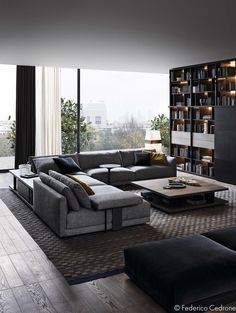 Roohome.com - Living room is a place where you can meet and talk with your family or friend. That is why it is very important to apply an interesting design for it. A unique living room interior design that was completed with the charming accent may help you to get the most ...