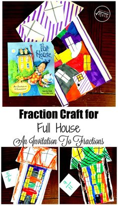 Read a fun book about fractions and then create a fraction craft with the free printable. Great fraction introduction. Fraction Activities, Math Activities For Kids, Math Resources, Book Activities, Counting Activities, Steam Activities, Teaching Fractions, Teaching Math, Multiplication