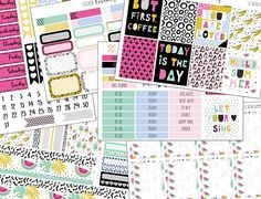 Neon Summer: planner stickers erin condren eclp weekly kit