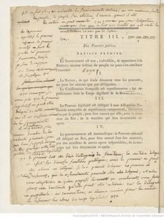 The French Constitution of 1791, annotated by Robespierre