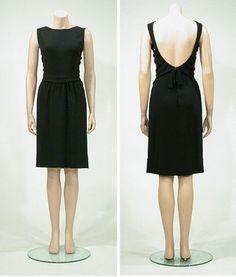 Laroche Couture Black Silk Crepe Sleeveless Dress