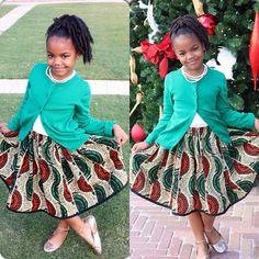 Ankara Skirt and Blouse for Kids http://www.dezangozone.com/2015/06/ankara-skirt-and-blouse-for-kids.html