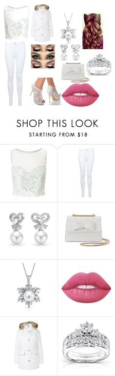 """""""Christmas Winter Snow Outfit"""" by moralesnaomi-1 ❤ liked on Polyvore featuring Miss Selfridge, Bling Jewelry, Kiss Me Couture, Lime Crime, Woolrich and Kobelli"""