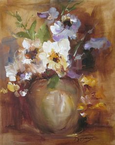 """Original Acrylic by Donna Moose. """"Pansies"""""""