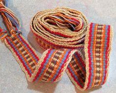 Handwoven Inkle belt- cotton- Natural- Red- Lavender- Orange- Brown- Handwoven- Inkle belt- Sca- sash- belt- inkle- Renaissance