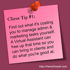Small business tip:  Doing everything solo in your business not only costs you time, it costs money. Figure out how much money by clicking on the image and getting the free download.  A Virtual Assistant (Online Business Specialist) will free up your time so you can grow your business and income.  www.here2assist.com