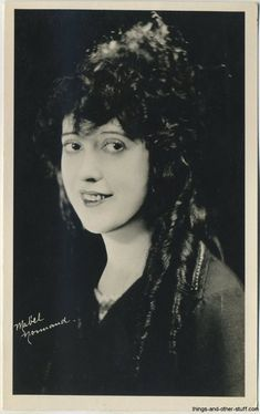 Mabel Normand ~ 1920's Real Photo Postcard on Immortal Ephemera