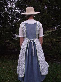 Peppermint Mocha Dotted Edwardian Apron by farmgirls on Etsy