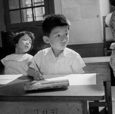 Children in school, Kyoto, Japan, 1951, photograph by Werner Bischof.
