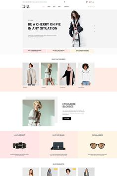 Prior to buying it, check out this beautiful Varie Gated - Fashion Online Store MotoCMS Ecommerce Template ( - learn tech specifications and requirements, read testimonials, ask a question. Fashion Website Design, Site Web Design, Website Design Layout, Web Layout, Store Design, App Design, Fashion Site, Ad Fashion, Website Designs