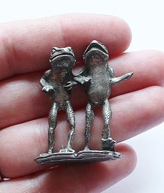 Vintage Pewter Frog Figurine by paststore on Etsy