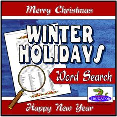 This Christmas Word Search is a challenging puzzle with winter holiday words hidden in the letters. Nearly 100 words are disguised in this fun word find. Words can be forwards and backwards, and either horizontal, vertical, and diagonal in this fun and engaging Christmas Wordsearch puzzle.
