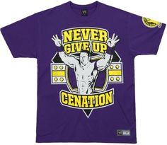 """per Logan's request, for his bday    John Cena """"Never Give Up"""" shirt"""