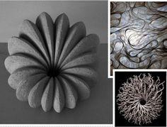 Tijdens onze eerst les hebben we het allereerst gehad over organische vormen. Dit zijn vormen geïnspireerd door de natuur of glooiende vormen. Hiervoor moesten we enkele afbeeldingen meebrengen voor in de les.