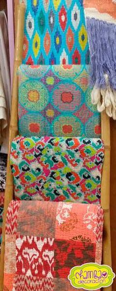 Originales colchas multiusos, dale ese toque tan especial atención tu cama o sofa #sofá #colchas #textil #hogar