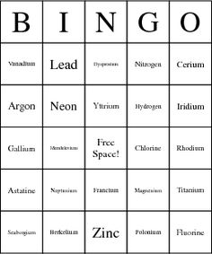Cycle 3 SCIENCE:  Periodic Table of Elements Bingo Cards...you could call out the atomic number or symbol, etc...