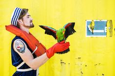"""Saving Parrots"" Photo by Noortje Palmers Make-up by Carolien Wardenier Parrot Max"
