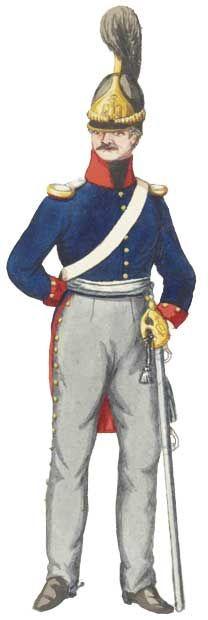 Служебная униформа офицера Бранденбургского кирассирского полка (№3), 1813 год - Die Dienstuniform Offizier Brandenburg Kürassier-Regiment (№3) 1813