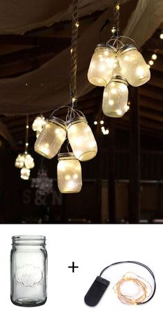 Easy and adorable wedding lighting with mason jars. #afloral