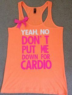 Pitch Perfect - Neon Tank - Womens Fitness Clothing - Workout shirt @Kandace Wynn we need this!