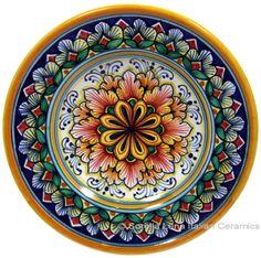 majolica+|+Ceramic+Majolica+Dipping+Plate+Red+Green+15cm