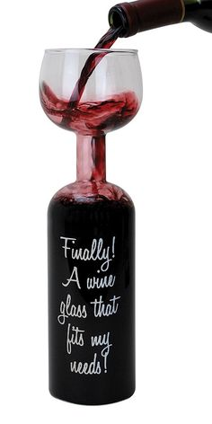 Finally! A wine glass that fits my needs! Haha... so oversized.