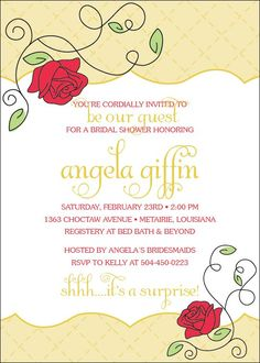 beauty and the beast invitation more beauty and the beast shower ideas