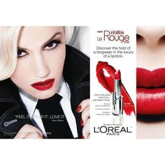 Anuncios L'Oreal con Gwen Stefani ❤ liked on Polyvore featuring backgrounds