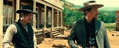 Still of Ethan Hawke and Byung-hun Lee in The Magnificent Seven (2016)
