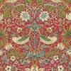 Originally a fabric c1883, this enduring classic with its symmetry and intricate detail of both strawberries and thrushes, is Morris at its best. Shown in the warm red and green colourway. Please request sample for true colour match.