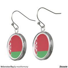 Belarusian flag earrings