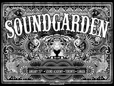 Cool Rock Posters   ...Jared Conner Soundgarden Toronto Posters