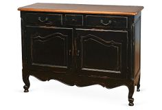 Crowfoot 3-Drawer Buffet, Black on OneKingsLane.com