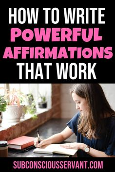 One of the secrets is writing powerful affirmations. By writing down an affirmation, Affirmations For Women, Positive Affirmations, Motivational Affirmations, Self Actualization, Law Of Attraction Money, Manifestation Law Of Attraction, Sharing Quotes, Spiritual Development, Spiritual Awakening