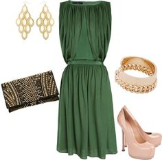 """""""Green and Gold"""" by dyanna85 on Polyvore"""