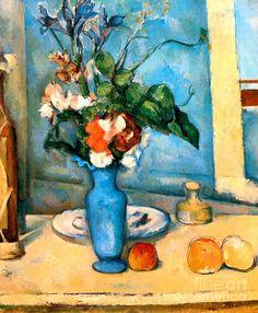 El jarron azul - The Blue Vase - Paul Cezanne