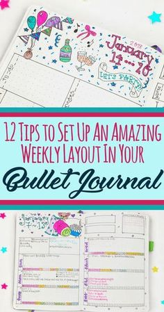 Bullet journal weekly spread - Learn how to set up your weekly layout easily and make your bujo more efficient!