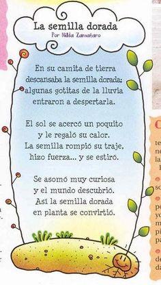 Sita Juver: POESIA SEMILLA DORADA. Spanish Teaching Resources, Spanish Lessons, Teacher Resources, Poetry For Kids, Yoga For Kids, Spanish Teacher, Spanish Classroom, Dual Language Classroom, Teachers Corner