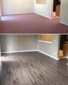 "Sleepy Creek Mountain Oak – before & after! ""I love my floors!"" – Christina, NJ"