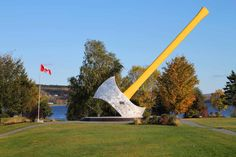 10 weird and wonderful roadside attractions you'll only see in Canada Big Country, Roadside Attractions, Prince Edward Island, New Brunswick, Time Capsule, Weird And Wonderful, Nova Scotia, Worlds Largest, North America